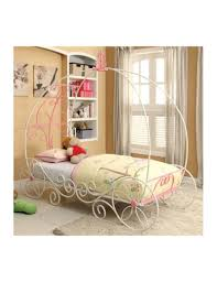 carriage design bed sturdy metal construction