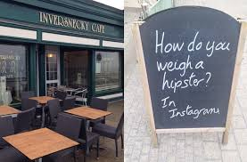 inversnecky café u0027s daily sandwich board puns are so bad they u0027re
