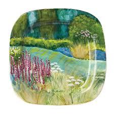 landscape wall plates square flower garden wall plate vietri