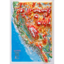 us relief map 3d relief panoramic map california in a4 size 3d usa us states