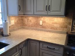 interior picture of limestone backsplash rustic backsplash