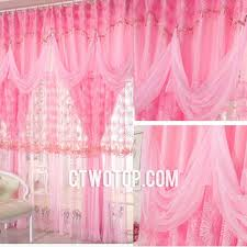 Childrens Curtains Girls Dreamy Beautiful Pink Kids And Girls Room Lace Curtains No