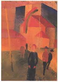 Church Flags Church Decorated With Flags 1914 August Macke Wikiart Org