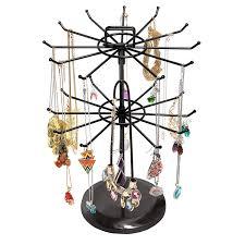 amazon com mygift black metal jewelry organizer tower necklace