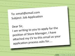 Sample Email To Submit Resume by How To Write An Email With Pictures Wikihow