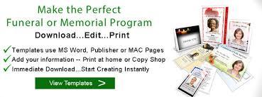 Memorial Booklet Bifold Funeral Program Single Fold Memorial Booklet