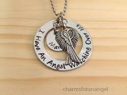 remembrance charms sted necklace i an angel me