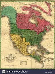 Map Of Louisiana Purchase North American Political Boundaries In 1826 Image Shows The Stock