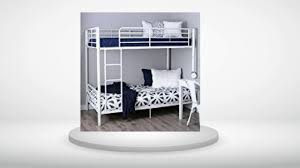 Walker Edison TwinOverTwin Metal Bunk Bed Reviews YouTube - Walker edison twin over full bunk bed