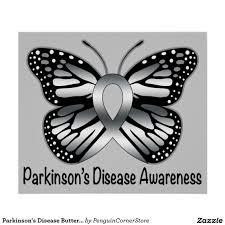 parkinson s disease butterfly awareness ribbon poster awareness
