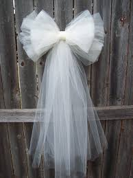 tulle decorations tulle pew bow 20 colors tulle church pew decor tulle