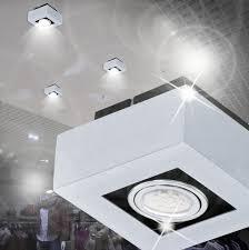 Schlafzimmer Lampe Modern Details Zu Mia Light Led Decken Modern Silber Leuchte Aufbauspot