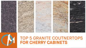 top 5 granites countertops for cherry cabinets youtube