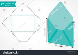 die cut envelope template vector c6 stock vector 337449935