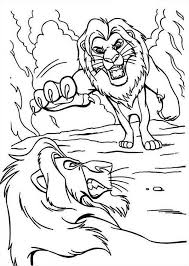 mufasa scar fighting lion king coloring