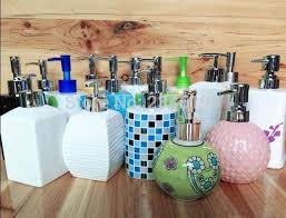 Hotel Bathroom Accessories by Ceramic Emulsion Liquid Empty Bottle Soap Dispenser Hotel Bathroom