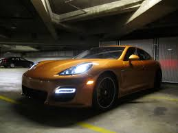 porsche gold porsche exclusive panamera turbo s show car in nordic gold 33