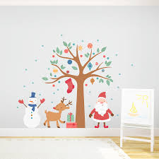 Decoration For Christmas Wall by Christmas Wall Decorations Prodigious Interest Decor 5 Jumply Co