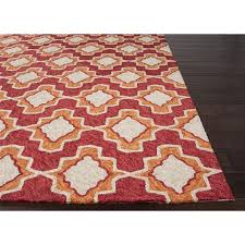 Moroccan Outdoor Rug Rugada Com Jaipur Catalina Moroccan Pattern Polyester Red Orange
