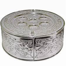 seder matzah passover gifts silver plated seder matzah plate combination