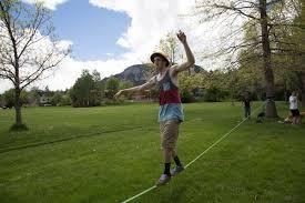 Backyard Slackline Without Trees Boulder Colorado Loosens Park Rules On Slacklining Grindtv Com