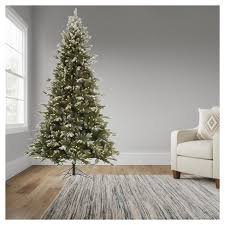 9ft pre lit artificial tree frosted balsam fir with