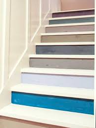 11 wooden stairs making colorful centerpieces for interior decorating