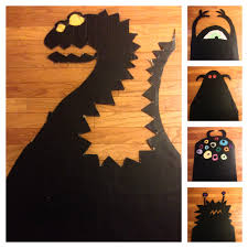 halloween window monster decoration cardboard monsters