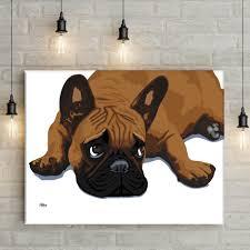pop art frenchie canvas fortune u0026 hopkins homeware and ceramics