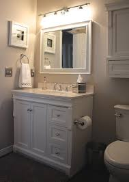 Foremost Naples Medicine Cabinet Our Small Bathroom Makeover New Wood Look Tile Vanity Decor