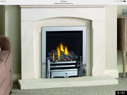 paragon 2000 plus gas fire 4 kw silver surround and base gas