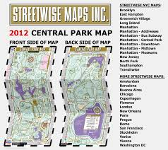 streetwise central park map laminated pocket map of central park