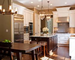 wood kitchen cabinets with white island 30 stylish and kitchens with light and contrasts