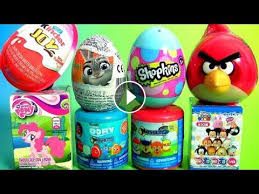 shopkins surprise eggs pony disney tsum tsum mashems paw