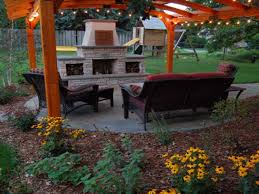 pictures of outdoor kitchens and fireplaces home depot outdoor
