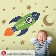 space ship wall decals awe inspring rocket wall decals for