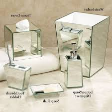 Mirrored Bathroom Accessories - mirrored bathroom set creative scents quilted mirror bathroom