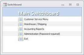 membuat form login dengan ms access 2007 adding passswords to microsoft access switchboard options