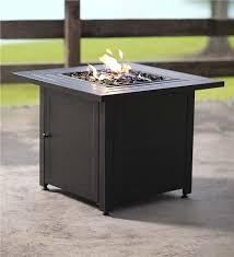 Propane Firepit Slatted Propane Pit With Black Fireglass Pits