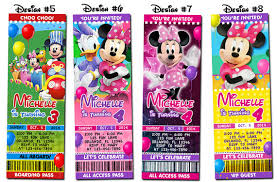 mickey mouse clubhouse minnie birthday party photo ticket
