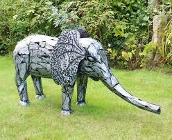 small metal elephant statue garden sculptures ornaments