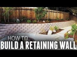 how to build a retaining wall step by step youtube