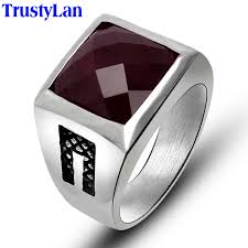 Mens Black Wedding Rings by Aliexpress Com Buy Trustylan Fashion New Solid Stainless Steel