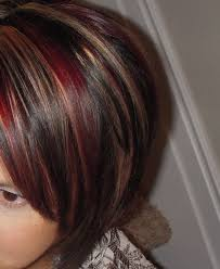 Red Hair Color With Highlights Pictures Dark Hair Colors With Red And Blonde Highlights Hairstyle