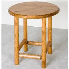 Rustic Pub Table Set Log Furniture Rustic Pub Table And Upholstered Stools Set Becker