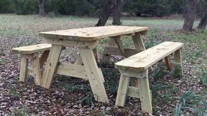 Building A Wooden Picnic Table by How To Build A Picnic Table Youtube