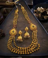 gold long necklace set images Mohanmala marathi design 1 gram gold antique finish classic jpg
