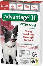 advantage ii for dogs flea prevention for dogs