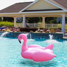 amazon com pink flamingo pool float u0026 tube huge 80