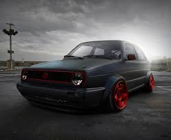 volkswagen black golf mk2 i like red with black by hugosilva deviantart com on